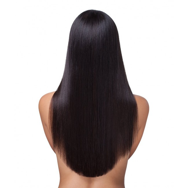 Jet Black Human Hair wig